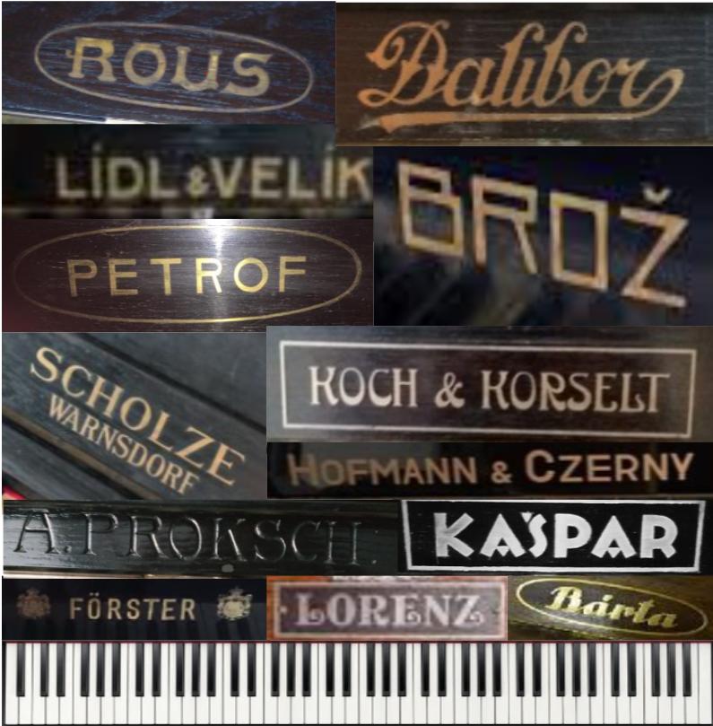 Výrobci pian v Čechách a na Moravě v uplynulých 100 letech